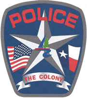 The colony police badge